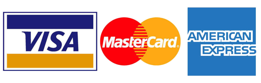 Accepted Credit Cards: Visa Mastercard AmericanExpress
